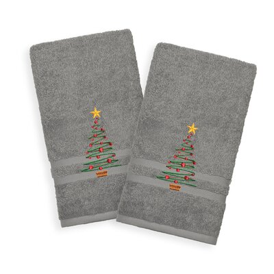 Holiday Hand Towel Color: Dark Gray
