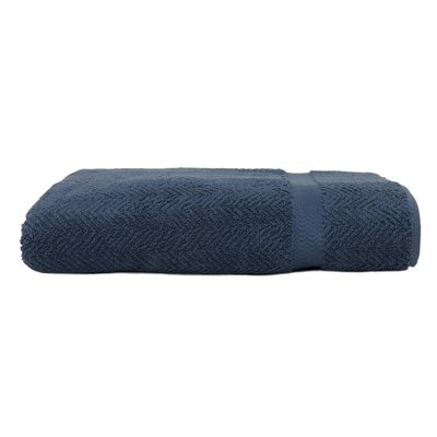 Herringbone Bath Towel Color: Midnight Blue