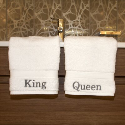 Linum Home Textiles Luxury Hotel and Spa Personalized King and Queen Hand Towel (Set of 2) at Sears.com