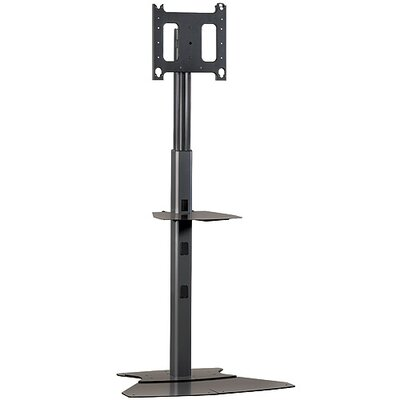 Mobile Carts, Stands & Accessories Tilt Floor Stand Mount for up to 65 Flat Panel Screens Finish: Black