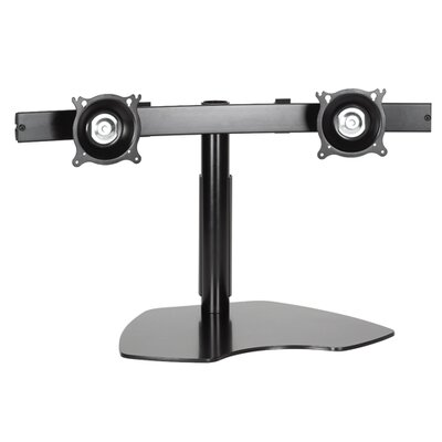 Height Adjustable 4 Screen Desk Mount Model: KTP220, Finish: Black