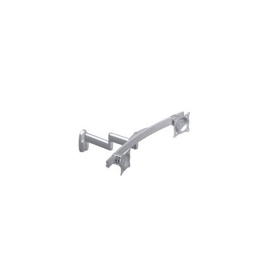 Flat Panel Dual Horizontal Monitor Arm 2 Screen Wall Mount Finish: Silver