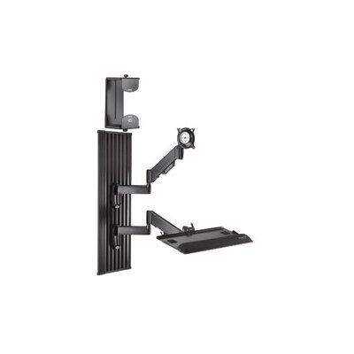 Workstation Series Wall Mount for Screens Finish: Black