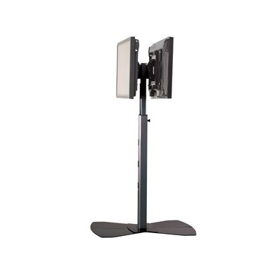 Tilt Universal Floor Stand Mount for 30 - 55 Flat Panel Screens Finish: Black