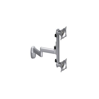 Flat Panel Dual Vertical Monitor Arm 2 Screen Wall Mount Finish: Silver