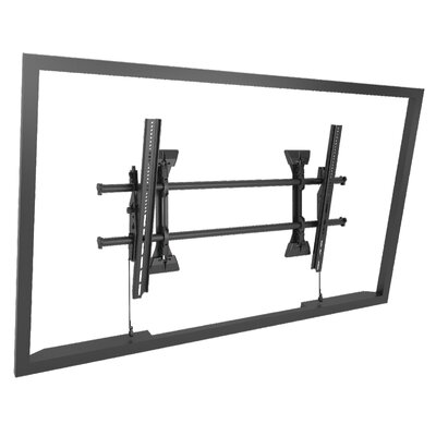 Extra Large Fusion Micro-Adjustable Tilt Wall Mount for Greater than 50 Flat Panel Screens