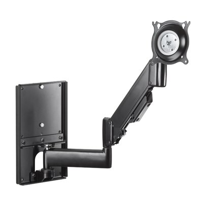 Height-Adjustable Steel Stud Monitor Wall Mount (10-32 Displays) Color: Black