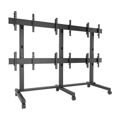 Fusion Freestanding Heigh Adjustable 6 Screen Desk Mount
