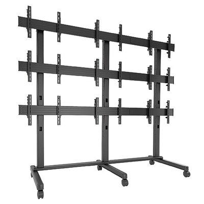 Fusion Freestanding Heigh Adjustable 9 Screen Desk Mount