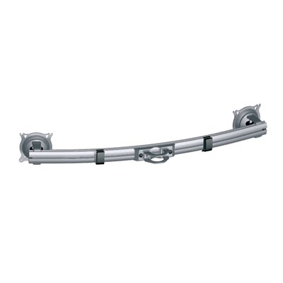 34 Dual Horizontal Array Pole Clamp for Widescreen Monitors Finish: Silver