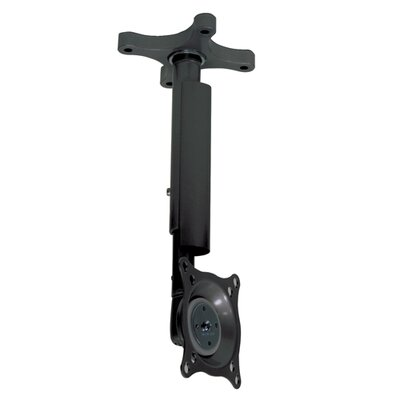 Pitch-Adjustable LCD Ceiling Mount with 12-18 Adjustable Column Color: Black