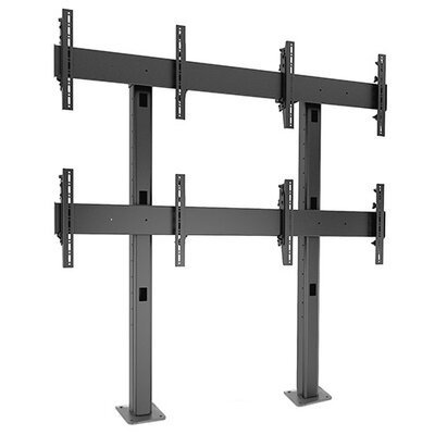 Fusion Freestanding Height Adjustable Universal 4 Screen Desk Mount