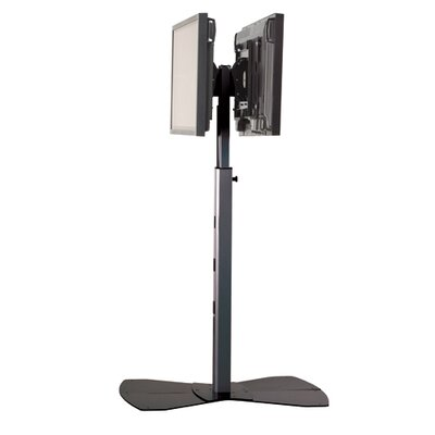 Tilt Universal Floor Stand Mount for 30 - 55 Flat Panel Screens Finish: Silver