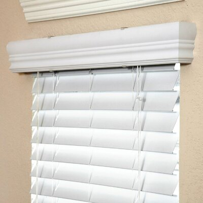 """Fauxwood Impressions Insulation Blind in White - 48"""" H - Size: 41.75"""" W x 48"""" H at Sears.com"""