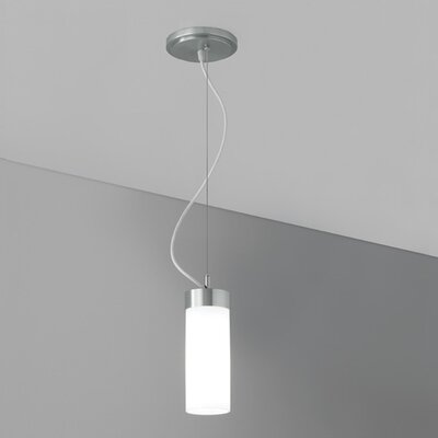 Wave Pendant Finish: Brushed Nickel, Mounting: White Cord