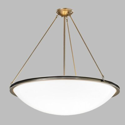 Regent Bowl Pendant Shade Color: Matte Opal Acrylic, Finish: Polished Nickel