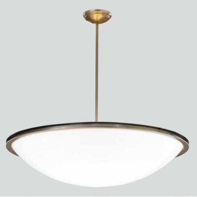 Regent Bowl Pendant with Single Stem Finish: Polished Brass, Size: 36