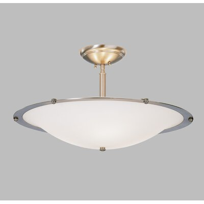 Diva Mezzo Pendant with Single Stem Finish Frame: Polished Nickel, Bulb Type: Incandescent