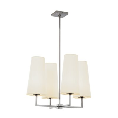 Temple Quad 4-Light Shaded Chandelier Finish: Brushed Nickel