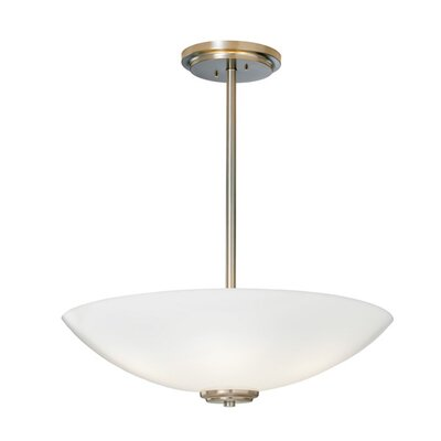 Miro Bowl Pendant Shade Color: Shiny Opal Acrylic, Finish: Polished Brass, Size / Bulb Type: 24 / Incandescent