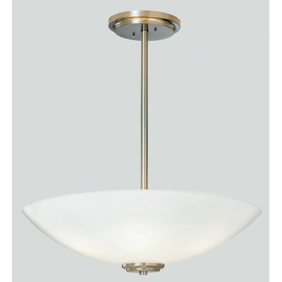 Miro Bowl Pendant with Tubing Finish: Polished Nickel