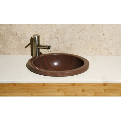 Circular Deckmount Self Rimming Bathroom Sink Sink Finish: Mocha Cream Marble/ Honed