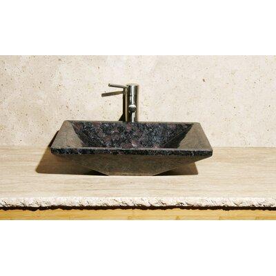Rectangle Vessel Bathroom Sink Sink Finish: Night Rose Granite