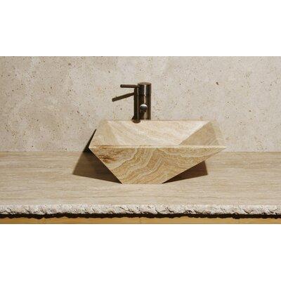 Irregular Stone Rectangular Vessel Bathroom Sink Sink Finish: Blonde Sugar Marble / High Sheen Polish