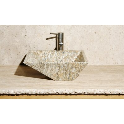 Irregular Rectangular Vessel Bathroom Sink Sink Finish: San Cecilia Granite / High Sheen Polish