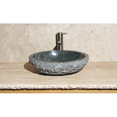 Oval Vessel Bathroom Sink Stone Color: Abalone Granite