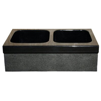 33 x 19 Kitchen Sink Finish: Black Granite