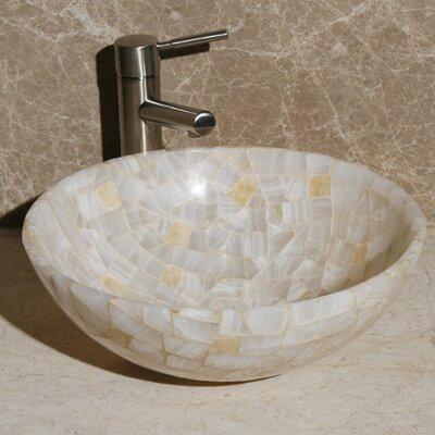 Circular Vessel Bathroom Sink Sink Finish: White and Sancrystal