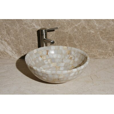 Stone Circular Vessel Bathroom Sink