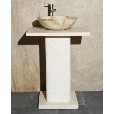 Stone 24 Pedestal Bathroom Sink