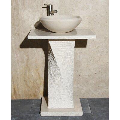 Stone 24 Pedestal Bathroom Sink