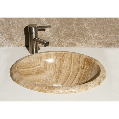 Stone Oval Drop-In Bathroom Sink