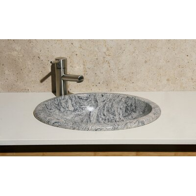 Meridian Stone Oval Drop-In Bathroom Sink