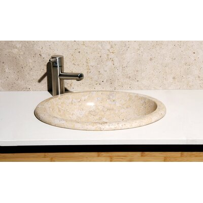 Sandstorm Stone Oval Drop-In Bathroom Sink