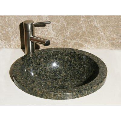 Stone Circular Drop-In Bathroom Sink
