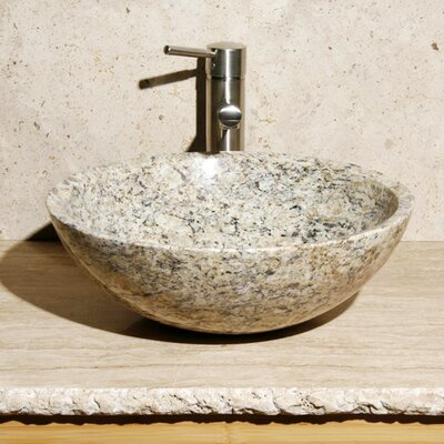 Circular Vessel Bathroom Sink Sink Finish: San Cecilia Granite / High Sheen Polish