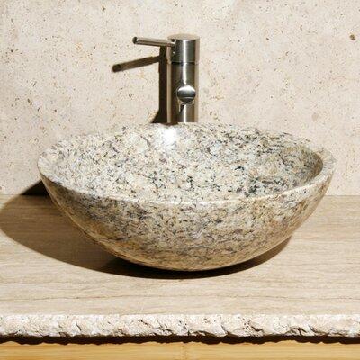 Stone Circular Vessel Bathroom Sink Sink Finish: San Cecilia Granite / High Sheen Polish