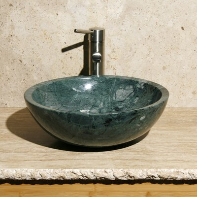 Circular Vessel Bathroom Sink Sink Finish: India Green Marble / High Sheen Polish