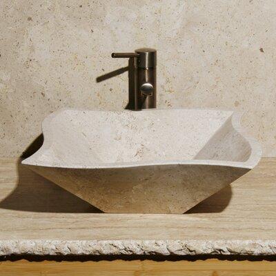 Curve Rectangular Vessel Bathroom Sink Sink Finish: Cafe Blanc Travertine / Honed