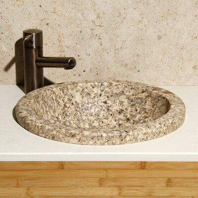 Stone Circular Drop-In Bathroom Sink