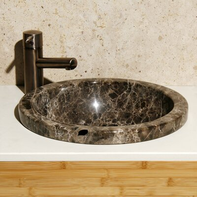 Moonscape Stone Circular Drop-In Bathroom Sink