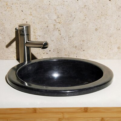 Limestone Self Rimming Bathroom Sink