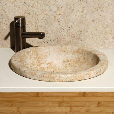 Sandstorm Stone Circular Drop-In Bathroom Sink