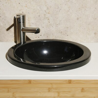 Granite Stone Circular Drop-In Bathroom Sink