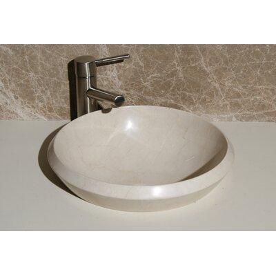 Stone Circular Drop-In Bathroom Sink Sink Finish: Crema Marfi