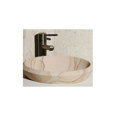Stone Circular Drop-In Bathroom Sink Sink Finish: Sand Dune